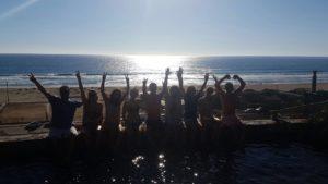 Group at pool