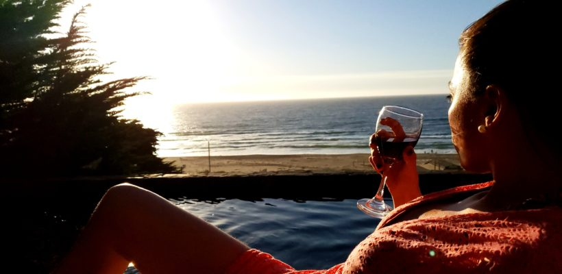 (Quiet contemplation with a Chilean red…)